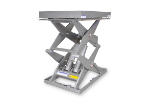 MSSTI 20-12,5-08: double-scissor lift table in stainless steel.  Máximum load: 2.000 Kg., raised height: 1.250 mm.