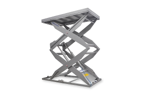MSS-TI-20-38/14: double-scissor lift table in stainless steel,  Top platform dimensions: 1.400 x 2.800mm, máximum load: 2.000kg.