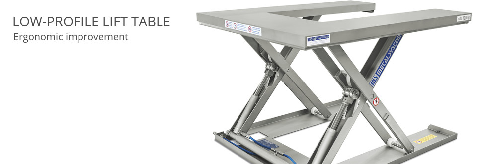 Low-Profile Lift Table. Ergonomic improvement.