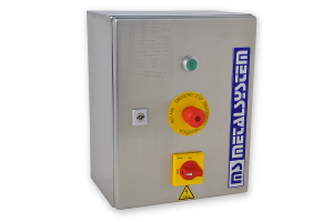 Stainless steel control panel for a Quicksystem high-speed door