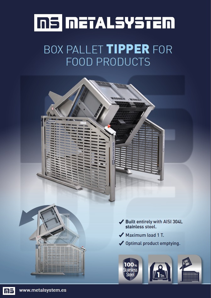 Box pallet Tipper for food products