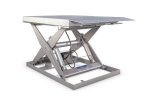 Подъемные столы с одинарными ножницами