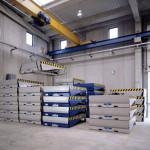 Almacén de productos ababados, rampas para muelle de carga